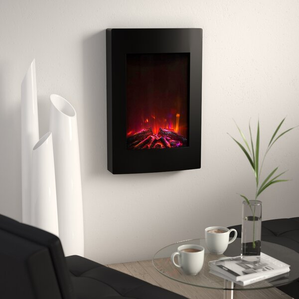 Nadya Wall Mounted Bio-Ethanol Fireplace by Orren Ellis