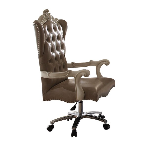 Kimberly Executive Genuine Leather Office Chair by Astoria Grand