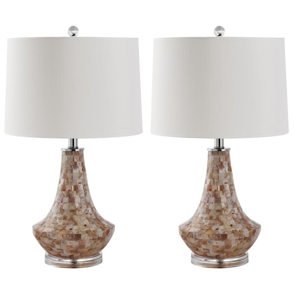 Kobe Shell 24 Table Lamp (Set of 2) by Safavieh