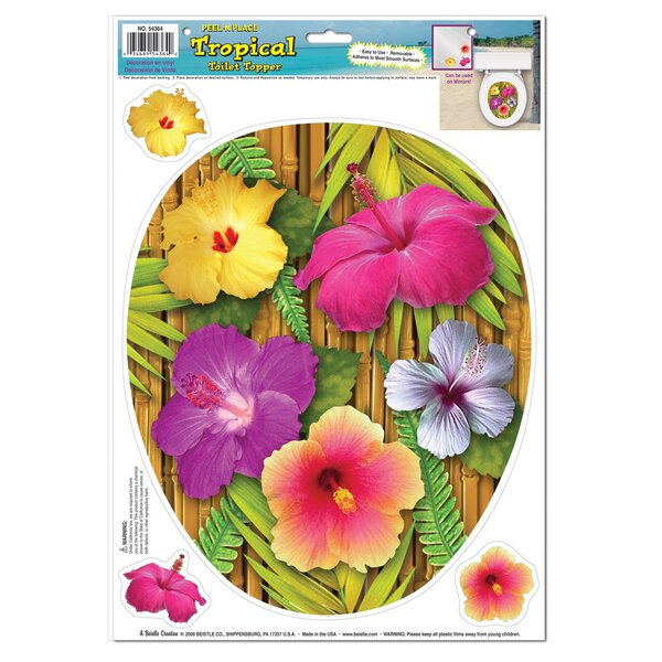 Tropical Toilet Seat Decal by The Beistle Company