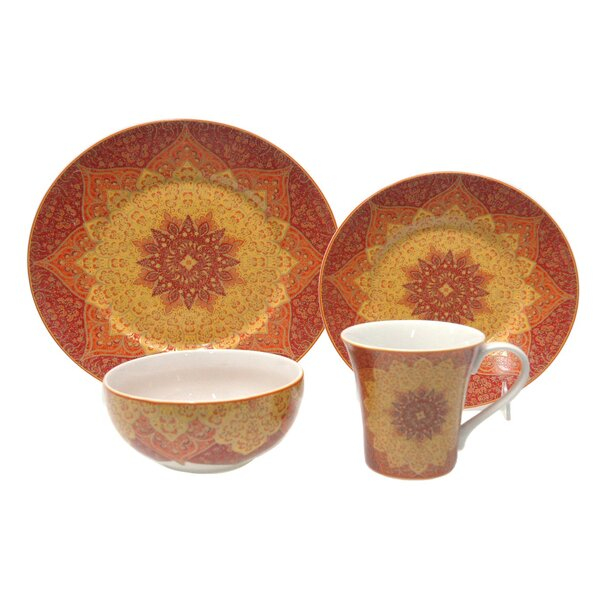 Kashan 16 Piece Dinnerware Set, Service for 4 by 222 Fifth