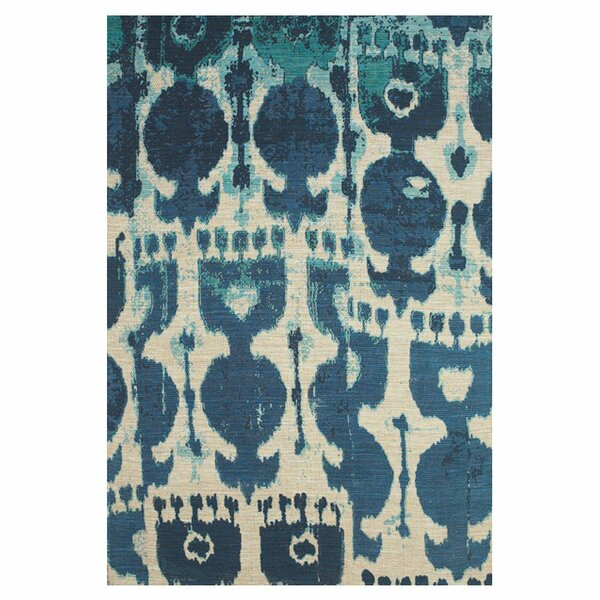 Anderson Hand-Loomed Dark Blue Area Rug by Bungalow Rose