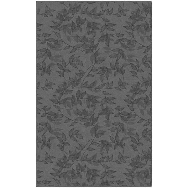 Roxana Floral Gray Area Rug by Winston Porter