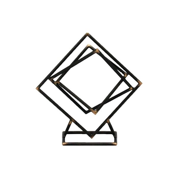 Carreiro Metal Abstract Squares Sculpture by Wrought Studio