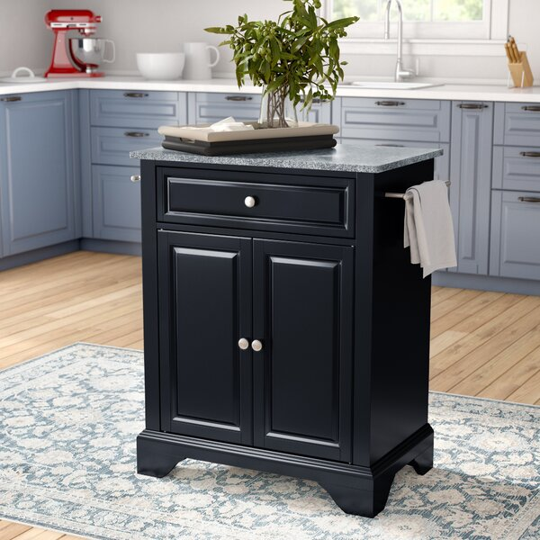 Hedon Kitchen Island With Granite Top By Three Posts Find