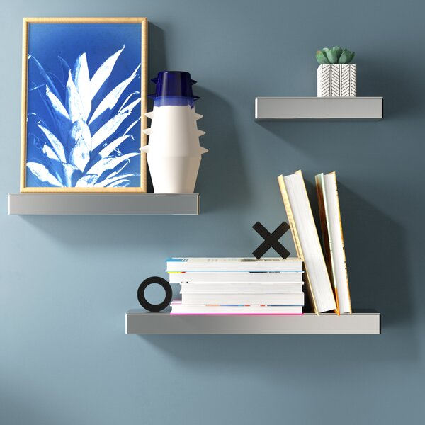 Dasher Mirrored 3 Piece Wall Shelf Set by Ivy Bronx