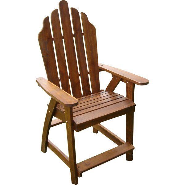 Pine Hills Solid Wood Adirondack Chair (Set of 2) by Beachcrest Home