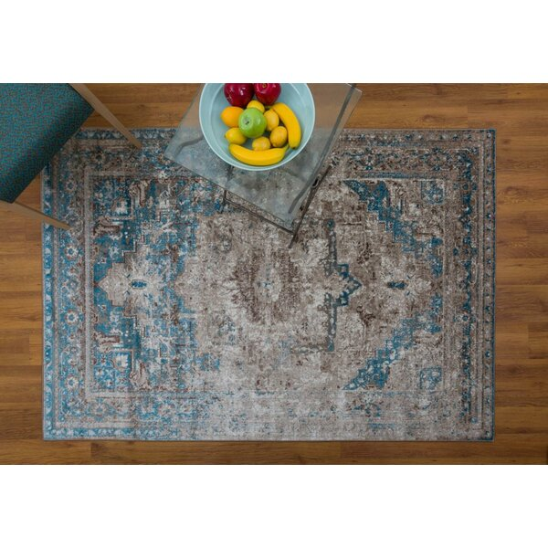 Selimi Blue Area Rug by Bloomsbury Market
