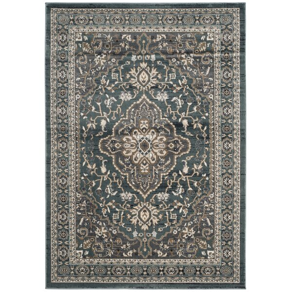 Taufner Teal/Gray Area Rug by Astoria Grand