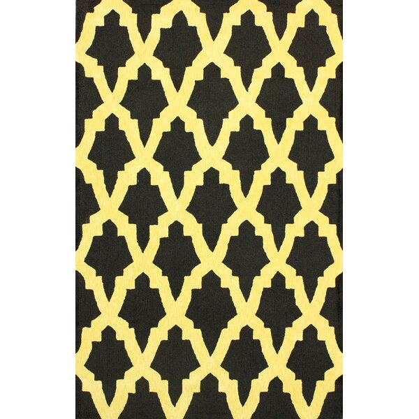 Brilliance Yellow/Black Damian Area Rug by nuLOOM