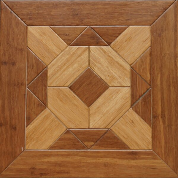 Windsor Parquet Engineered 15.75 x 15.75 Bamboo Wood Tile by Islander Flooring
