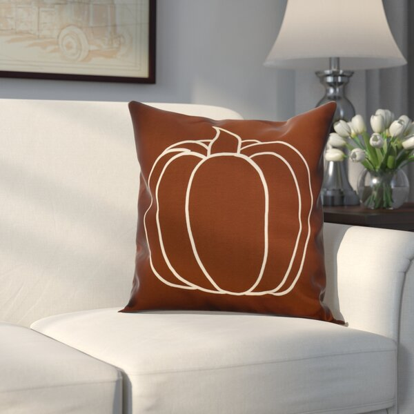 Miller Pumpkin Pie Geometric Outdoor Throw Pillow by Alcott Hill