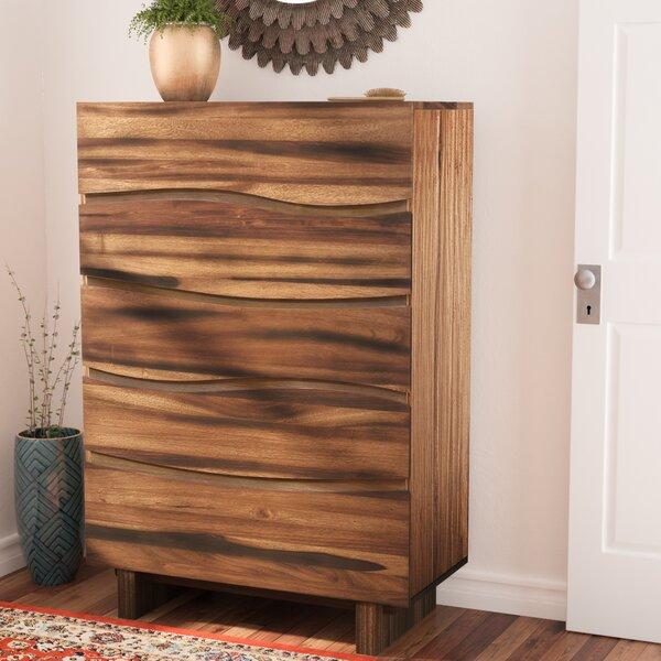 Hiram 5 Drawer Standard Dresser/Chest by Mistana