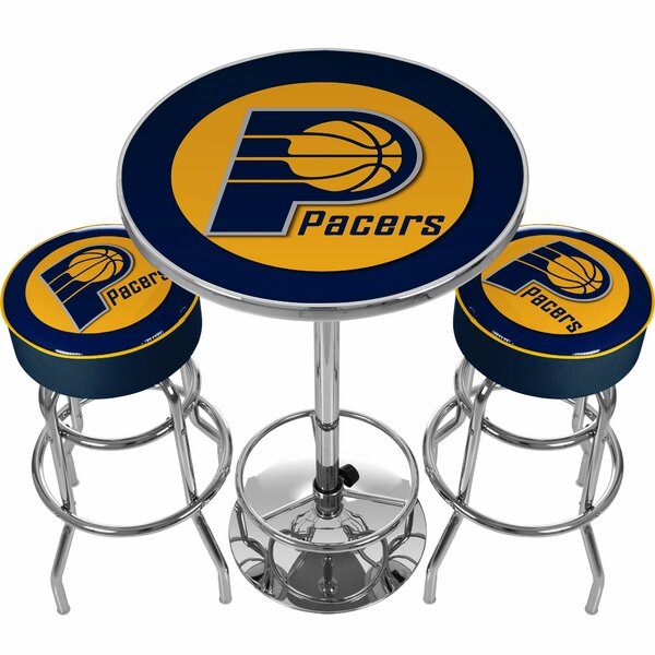 NBA Miami Heat Game Room Combo 3 Piece Pub Table Set by Trademark Global