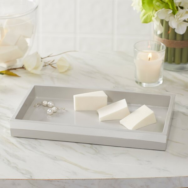 Imogen Striped Lacquer Bathroom Accessory Tray by Birch Lane™