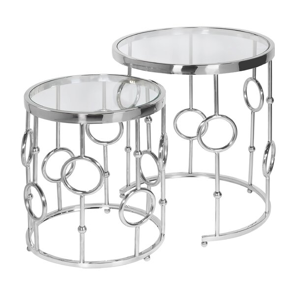 Lancelot Nesting Table (Set of 2) (Set of 2) by Rosdorf Park