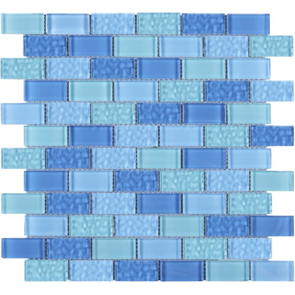 Cockles 1 x 2 Glass Mosaic Tile in Blue by Multile