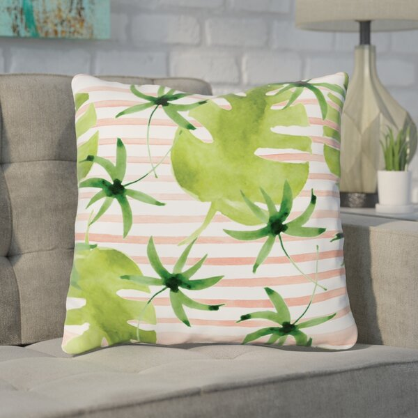 Tonnele Palm Throw Pillow by Wrought Studio