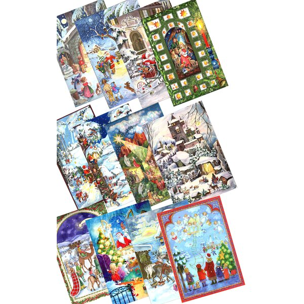 Sellmer Small Assorted Advent Calendars (Set of 12) by The Holiday Aisle