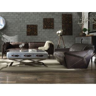 2 Piece Genuine Leather Living Room Set by Clc