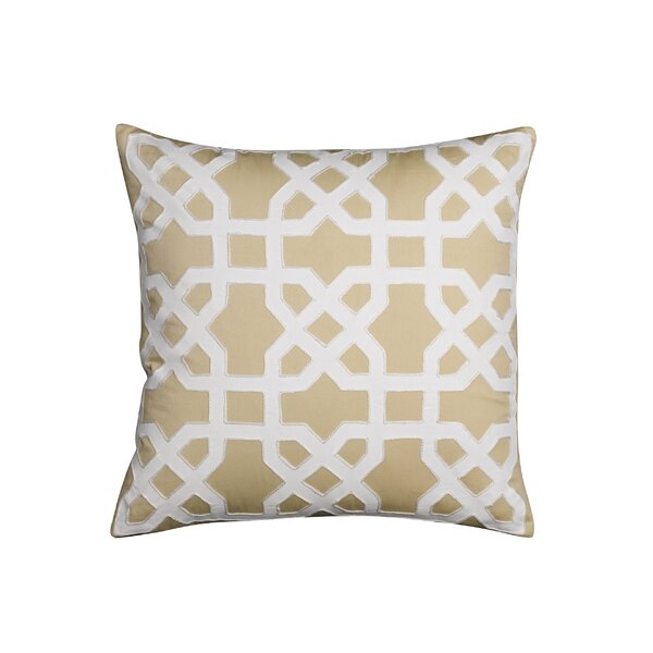 Kristin Applique Cotton Throw Pillow by Charlton Home
