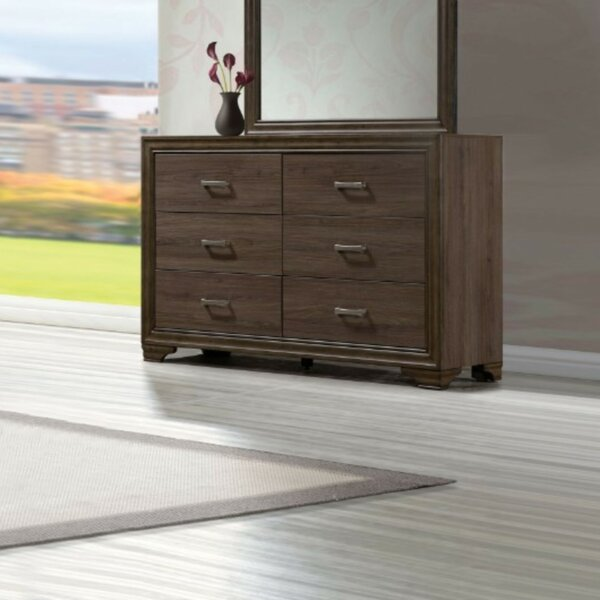 Springboro 6 Drawer Double Dresser by Modern Rustic Interiors