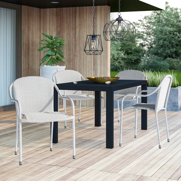 Best Design Belton Stacking Patio Dining Chair (Set Of 4) By Mercury Row Great Reviews