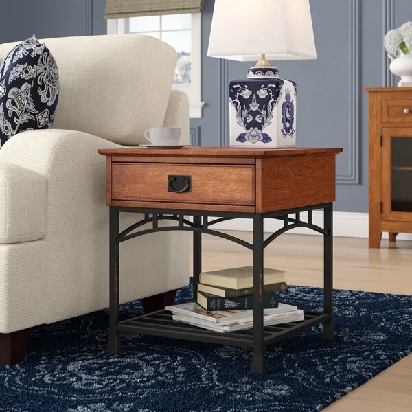 Bilboa End Table With Storage  by Trent Austin Design