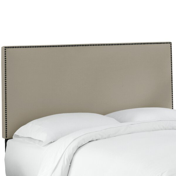 Keele Nail Button Border Upholstered Panel Headboard by Brayden Studio