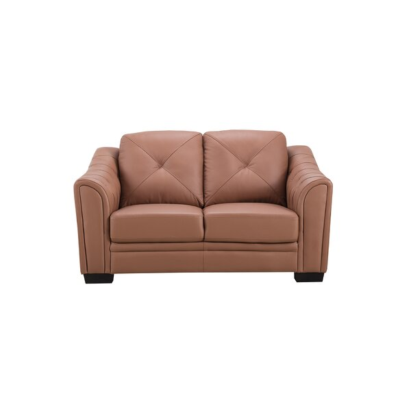 Vicknair Leather Loveseat by Latitude Run