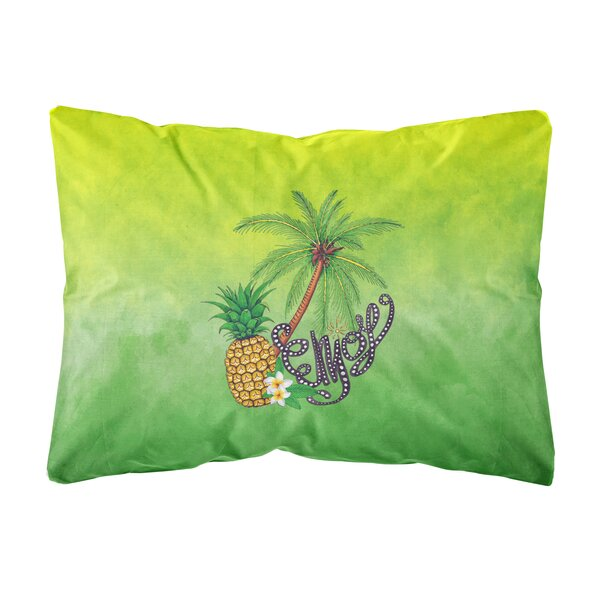 Russ Summer Enjoy Indoor/Outdoor Throw Pillow by Bay Isle Home