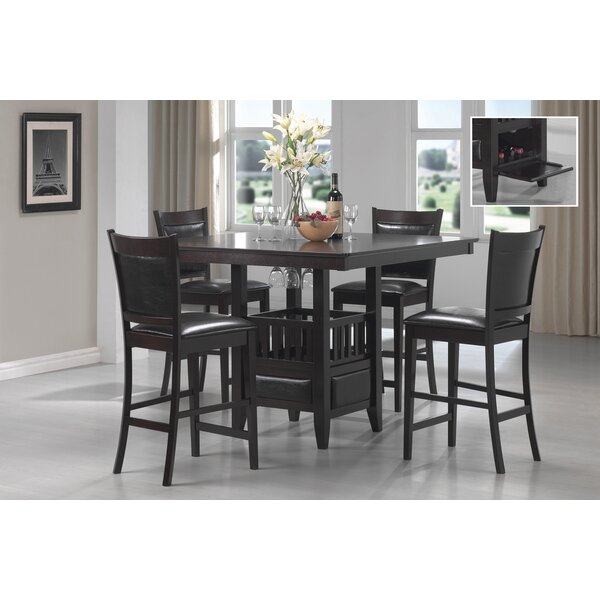 Abington 5 Piece Counter Height Dining Set by Red Barrel Studio Red Barrel Studio