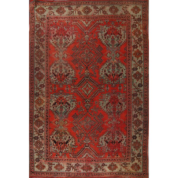 One-of-a-Kind Bovill Turkish Oriental Hand-Knotted Wool Red Area Rug by Canora Grey