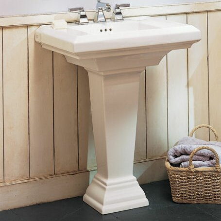 Town Square Vitreous China 24 Pedestal Bathroom Sink with Overflow by American Standard