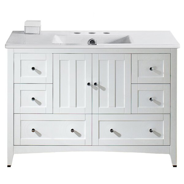 Artic Modern 48 Plywood-veneer Single Bathroom Vanity Set by Longshore Tides