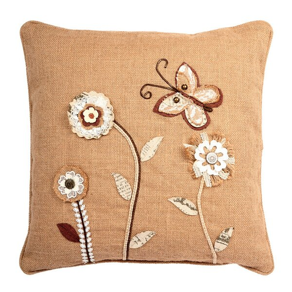 Ambler Garden Theme Embroidery Square Throw Pillow by August Grove