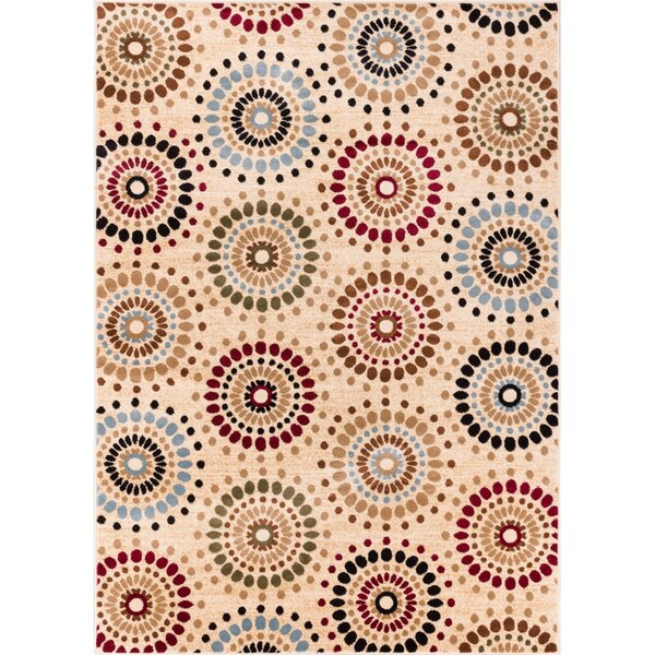 Barclay Orchid Ivory Fields Dots Area Rug by Well Woven