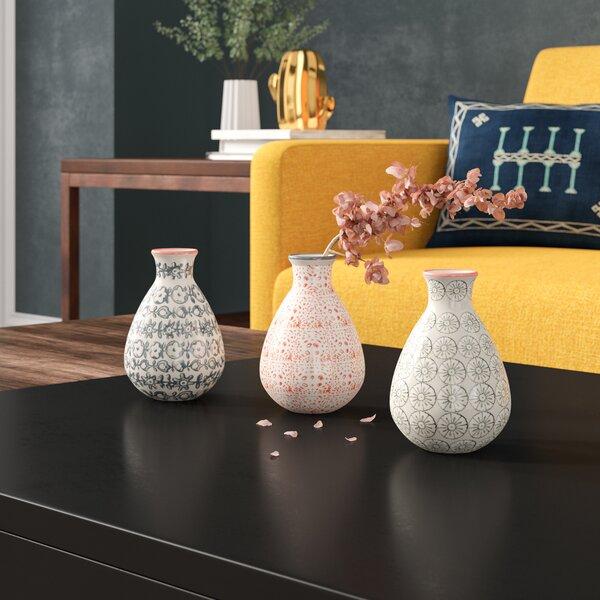 Dorazio 3 Piece Table Vase Set by Mercury Row