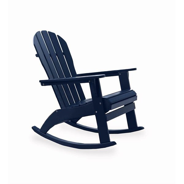 Solid Wood Rocking Adirondack Chair by Plow & Hearth Plow & Hearth