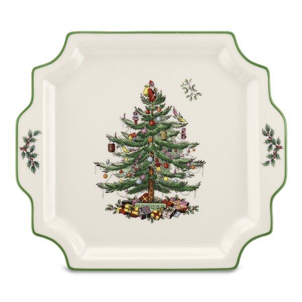 Christmas Tree Serve Handled Platter by Spode