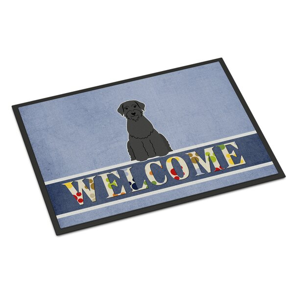 Giant Schnauzer Welcome 27 in. x 18 in. Non-Slip Outdoor Door Mat