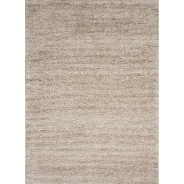 Romans Solid Hand-Tufted Oatmeal Beige Area Rug by Highland Dunes