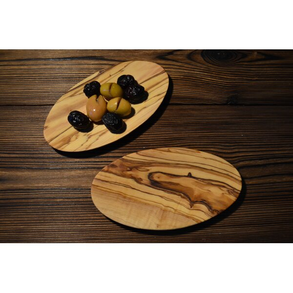Olive Wood Oval Condiment Server Set (Set of 6) by Pomegranate Solutions, LLC