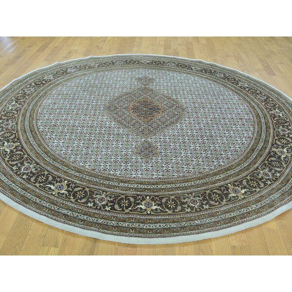 One-of-a-Kind Beaton Hand-Knotted Ivory Wool/Silk Area Rug by Isabelline