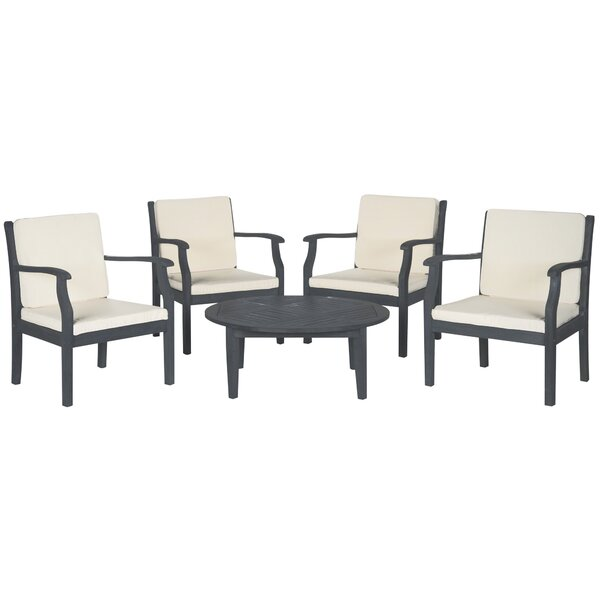 Colfax 5 Piece Sectional Seating Group with Cushions by Safavieh Safavieh