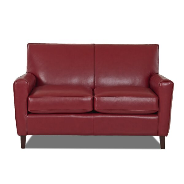 Review Gormley Leather Loveseat