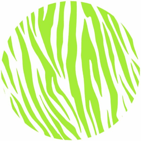Wild Lime Zebra Trivet by Andreas Silicone Trivets