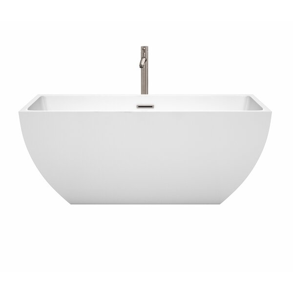 Rachel 59 x 29.5 Freestanding Soaking Bathtub by Wyndham Collection