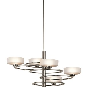 Read Reviews Aleeka 5-Light Shaded Chandelier By Kichler
