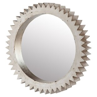 Williston Forge Harvin Cog Wall Mirror in White